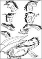 American Dragon Jake Long Feelings Free A4 Printable Coloring Page