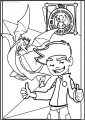 American Dragon Jake Long Happy Time Free A4 Printable Coloring Page