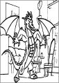 American Dragon Jake Long Power Free A4 Printable Coloring Page