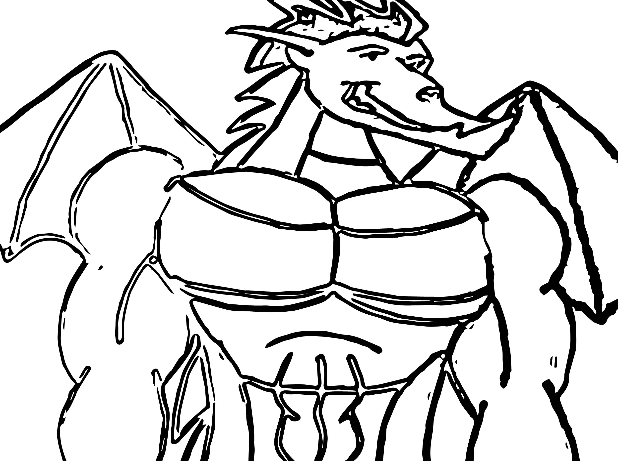 American Dragon Muscle 2 Coloring Page