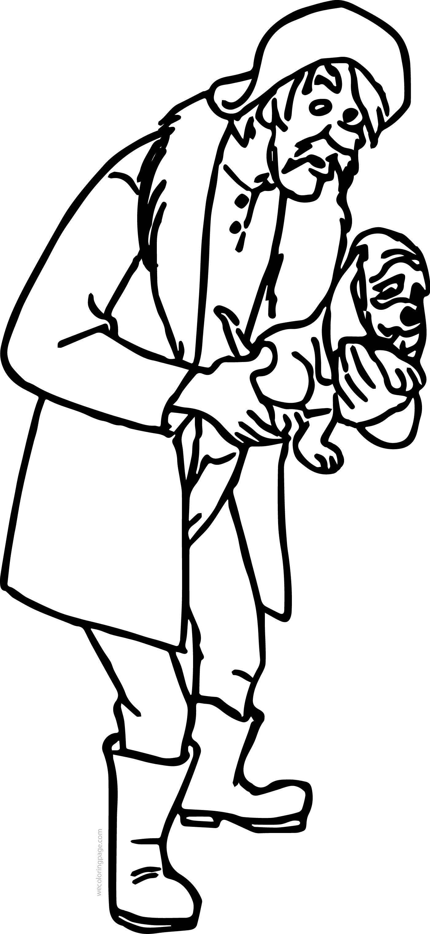 Amos And Dog Coloring Page