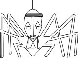 Anansi Spider Outline Coloring Page