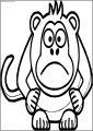 Angry Cartoon Baboon Free Printable Coloring Page