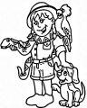Animal Kingdom Images Cartoon Coloring Page