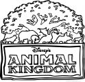 Animal Kingdom Logos Coloring Page