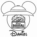 Animal Kingdom Mickey Face Silhouette Coloring Page