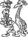 Animal Kingdom Safari Free Images Mickey Mouse And Friends Take Photo Giraffe Coloring Page