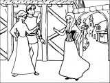 Anna Meet Rapunzel And Eugene Coloring Page