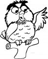 Archimedes Owl 2 Cartoon Coloring Pages