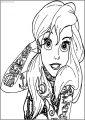 Ariel Mermaid Tattoo Free Printable Coloring Page