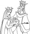 Aurora Queen Leah and Kings Stefan and Hubert Coloring Page 12