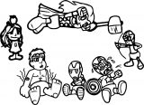 Avenger Babies Coloring Page