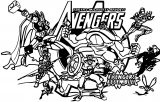 Avengers Coloring Page 090
