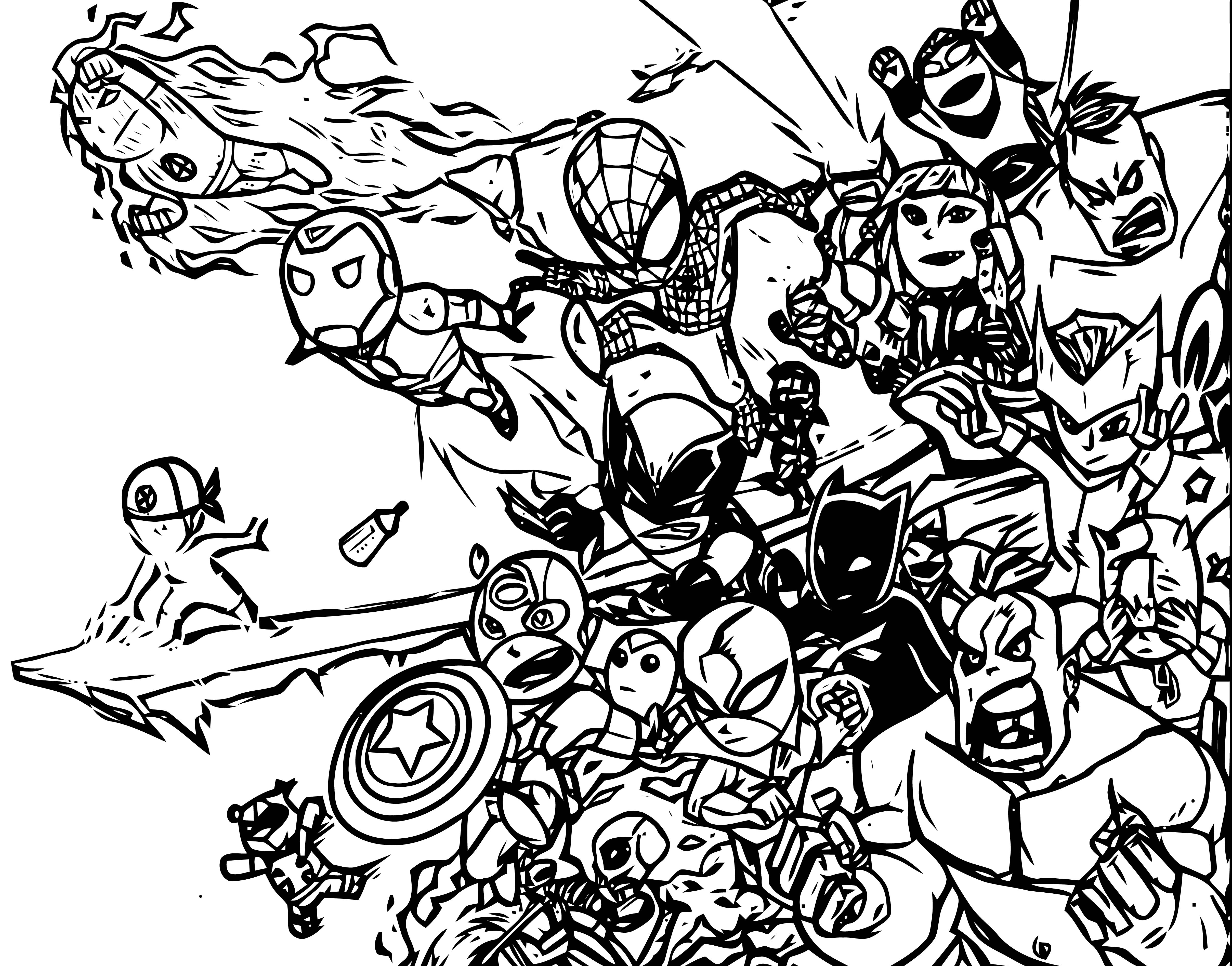 Avengers Coloring Page 137