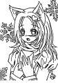 Bab Manga Style gacha life christmas Coloring Pages
