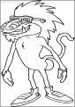 Baboon Cartoon Animal Free Printable Coloring Page