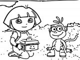 Baby Dora The Thankful Old Troll Coloring Page