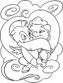 Baby Hercules Baby Pegasus Horse Coloring Page