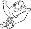Baby Hercules Strong Arms Coloring Page