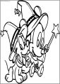 Baby Mickey And Dog Magic Free A4 Printable Coloring Page
