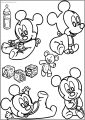 Baby Mickey Free A4 Printable Coloring Page