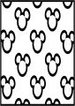 Baby Mickey Outline Faces Free A4 Printable Coloring Page