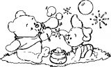 Baby Piglet Winnie The Pooh Coloring Page 08