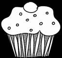 Background Black Cupcake Cup Cake Coloring Page 10