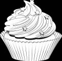 Background Black Cupcake Cup Cake Coloring Page 21