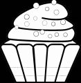 Background Black Cupcake Cup Cake Coloring Page 36