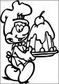 Baker Smurf Making Cake Free Printable Coloring Page