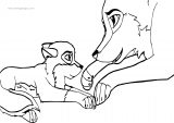 Balto And Aniu Wolf Coloring Page (2)
