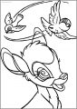 Bambi Flying Birds Free Printable Coloring Pages