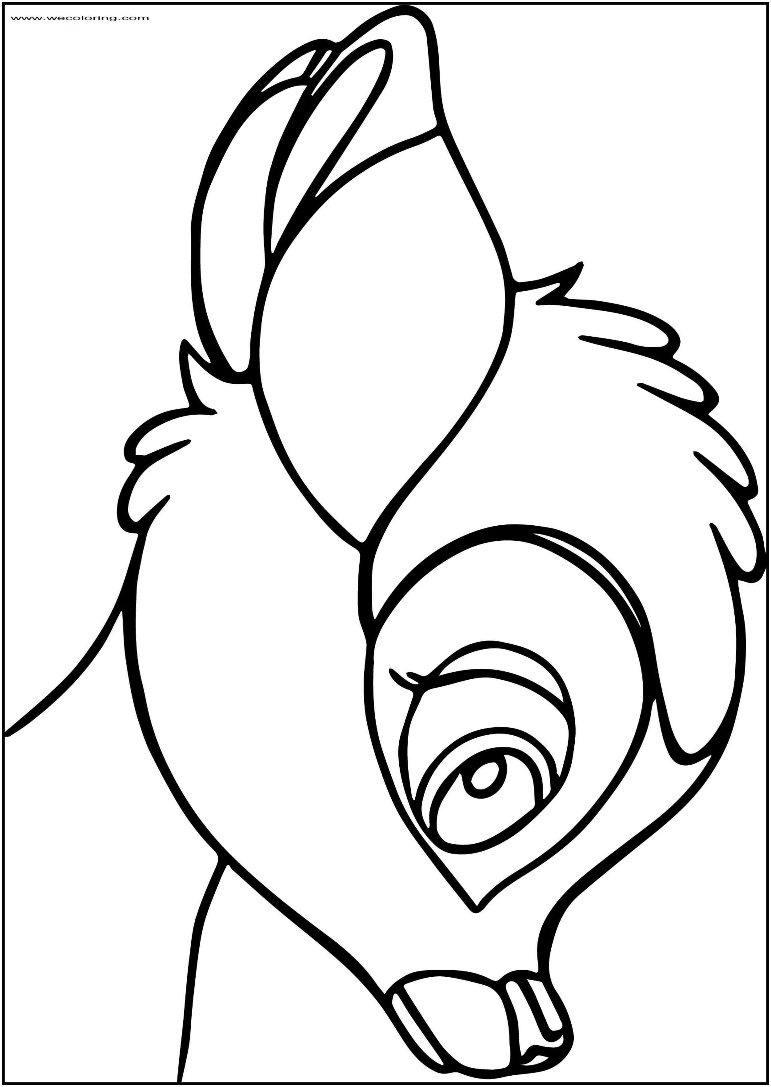 Bambi Head Free Printable Coloring Pages