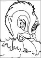 Bambi S Flower The Skunk Flower Cute Free Printable Coloring Pages