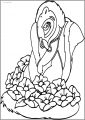 Bambi S Flower The Skunk Flower Free Printable Coloring Pages