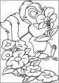 Bambi S Flower The Skunk Flower Nose Free Printable Coloring Pages