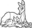 Bambi and his Mother Coloring Pages 1