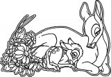 Bambi and his Mother Coloring Pages 2