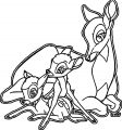Bambi and his Mother Coloring Pages 3