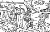 Barbie A Perfect Christmas Book Illustraition 3 Cartoon Coloring Page
