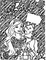 Barbie Chrismas Coloring Page 02