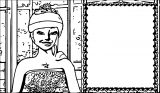 Barbie In Rock N Royals Photo Frame Coloring Page