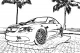 Beach Car Coloring Page