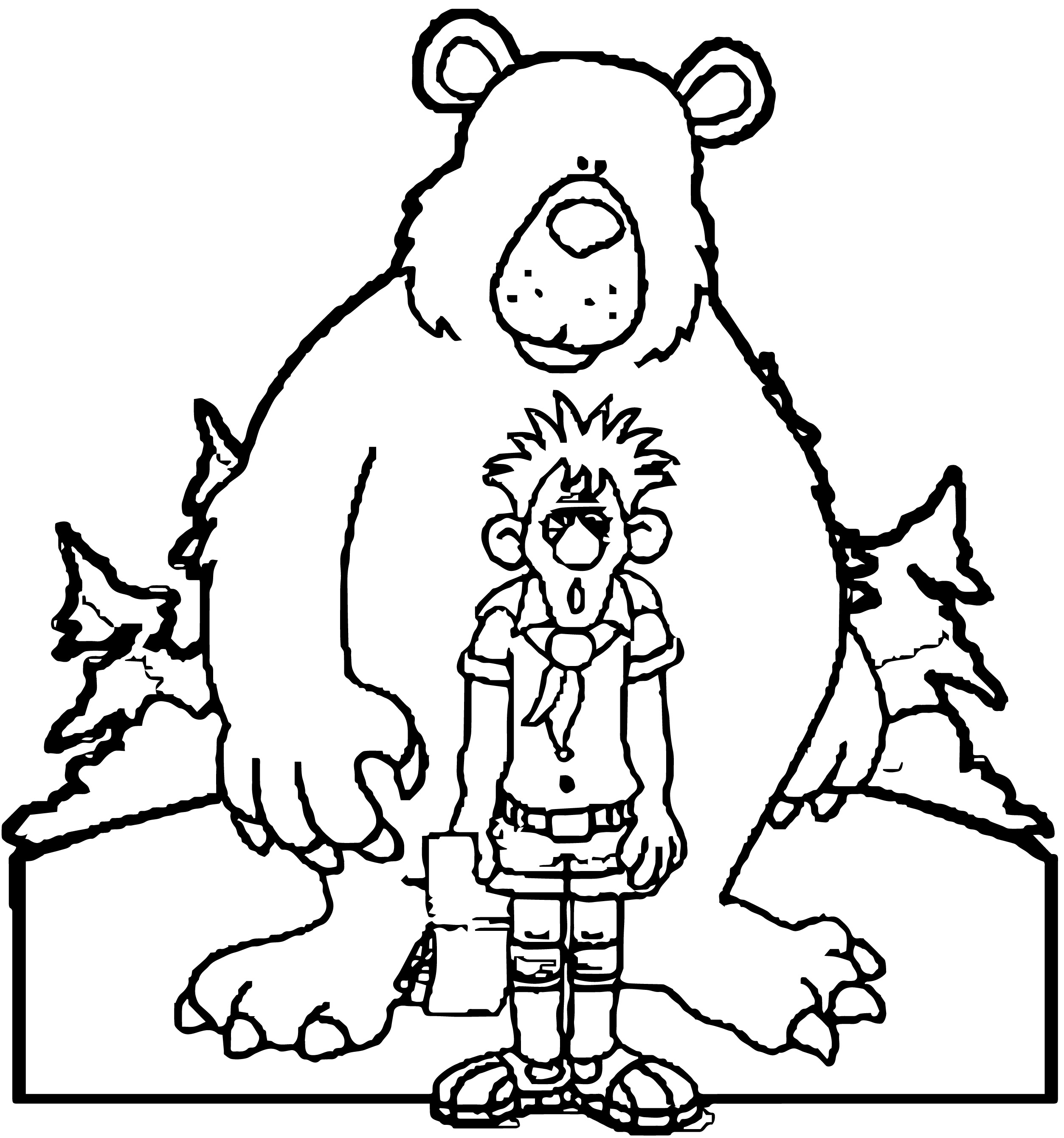 Bear_Scared_Boy_Scout_Cute_Camping_Coloring_page