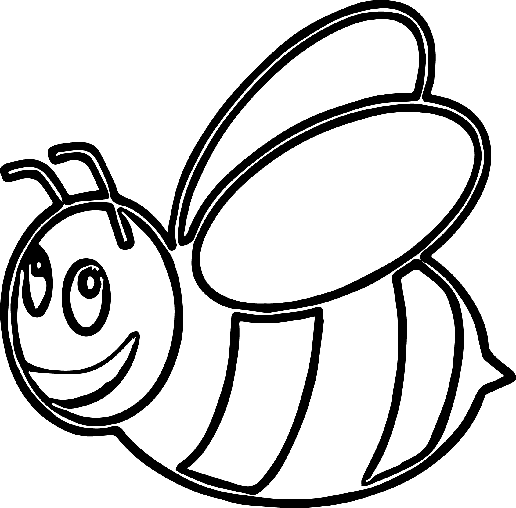 Bee Coloring Page 05
