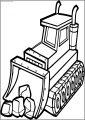 Best Stone Shovel Bulldozer Free Printable Coloring Page