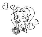 Betty Boop We Coloring Page 029