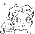 Betty Boop We Coloring Page 126
