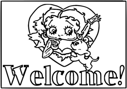 Betty Boop We Coloring Page 226